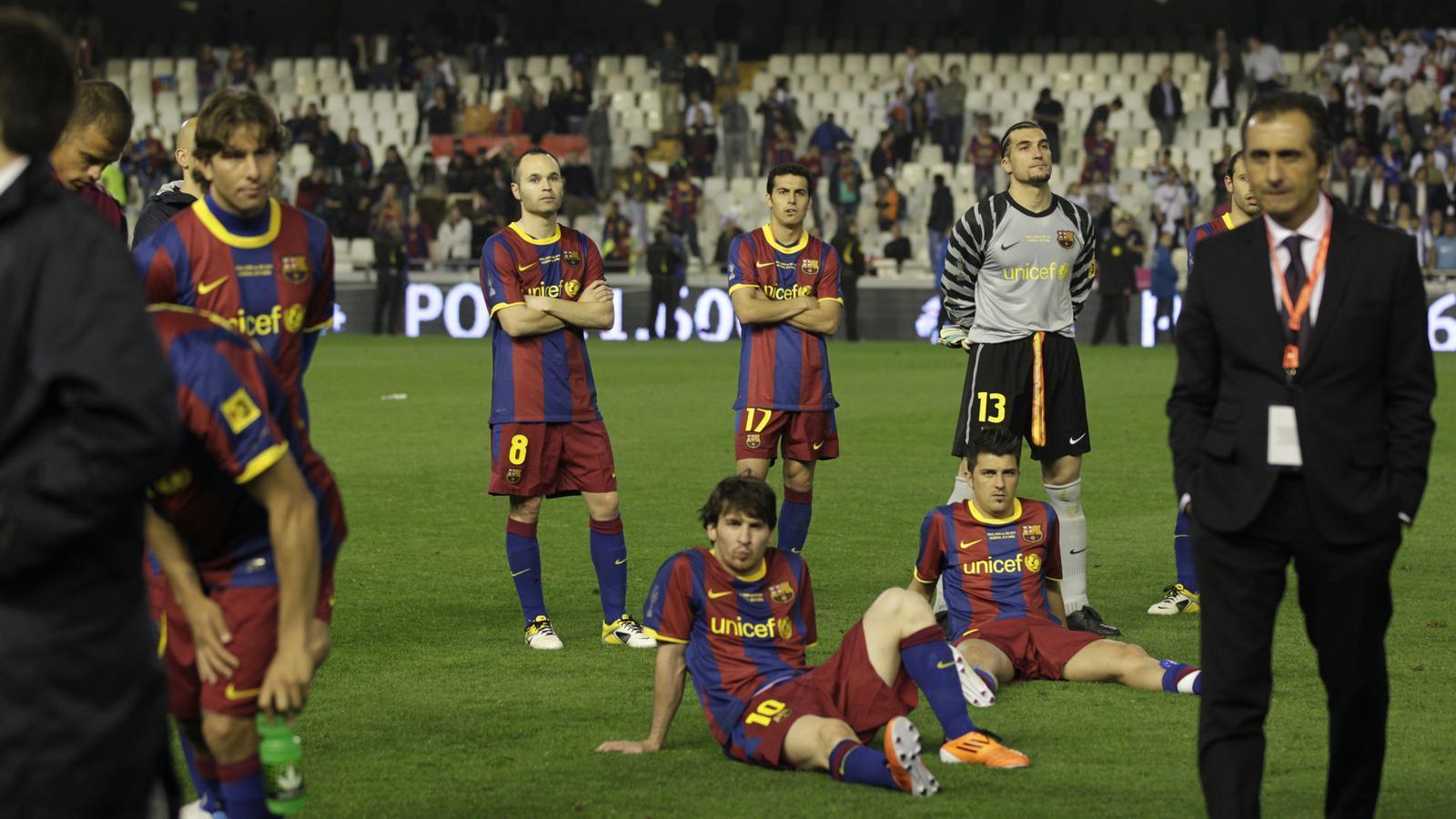 La decepció dels jugadors del Barça va ser evident, tot i que van saber perdre en tot moment.