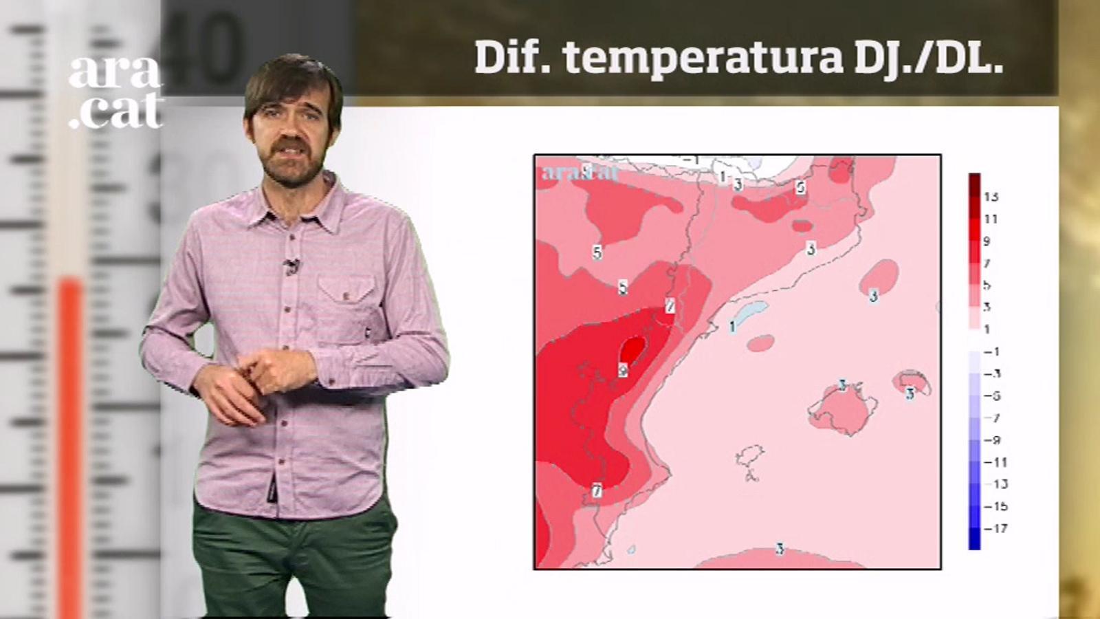 La méteo en 1 minut: cap a Sant Jordi amb calor gairebé d'estiu