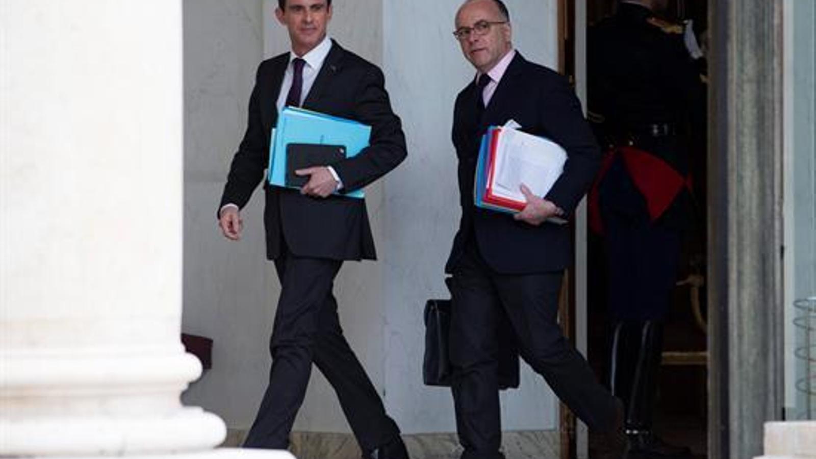 Valls i Cazeneuve, en una imatge d'arxiu al palau de l'Elisi.