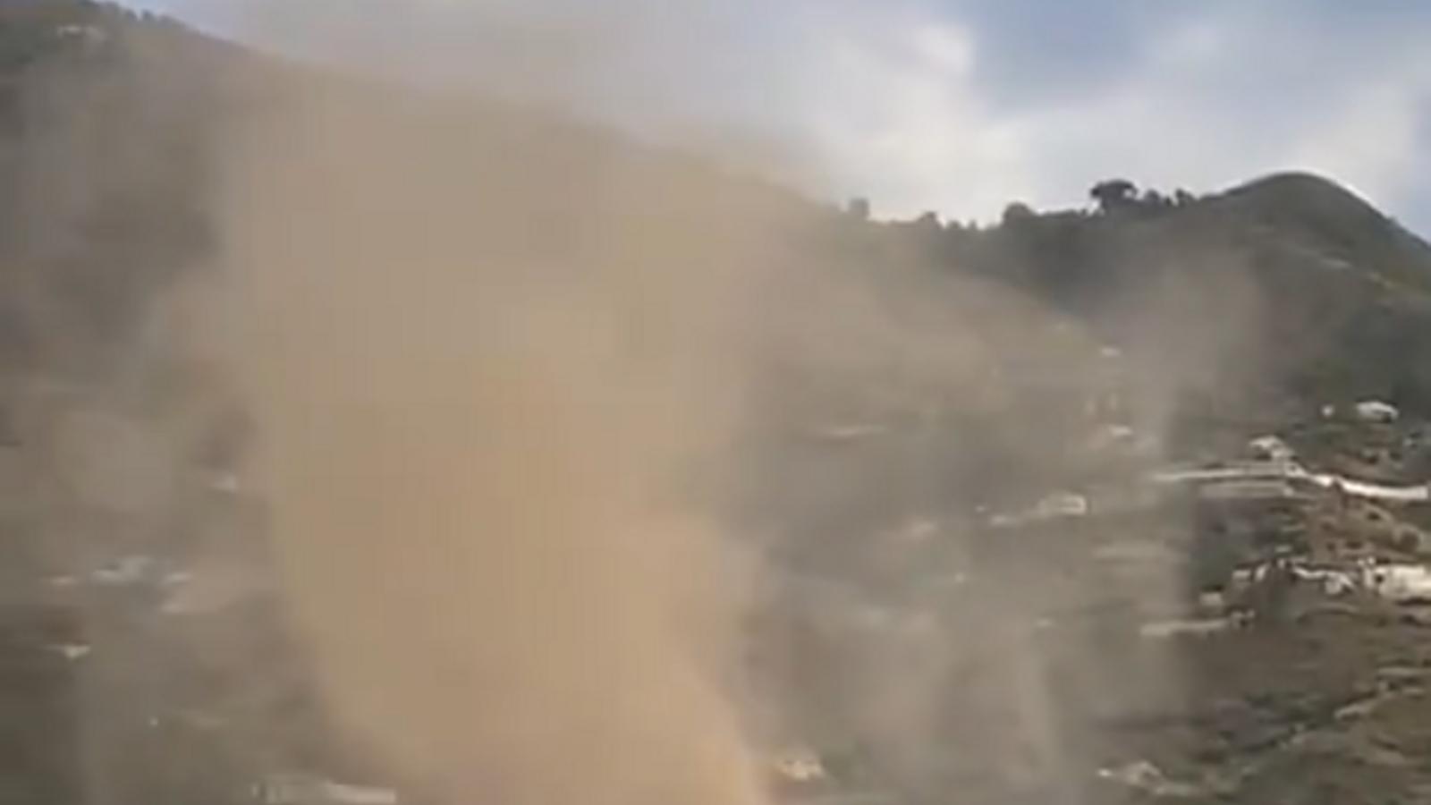 Un tornado força espectacular ha afectat una ciutat del nord de Sicília