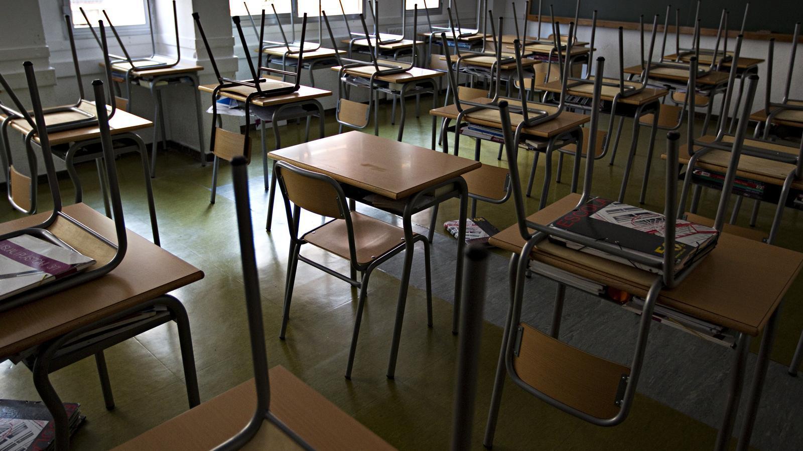 L'aula d'una escola en una imatge d'arxiu
