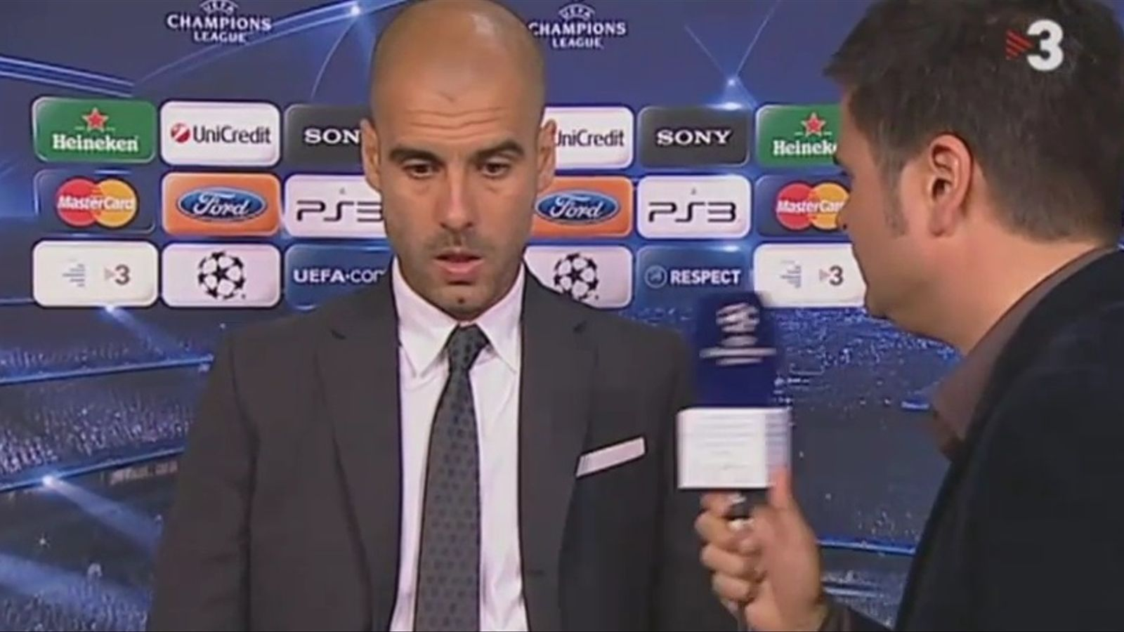 Guardiola, reticent a parlar amb Tv3 després del partit amb el Xakhtar