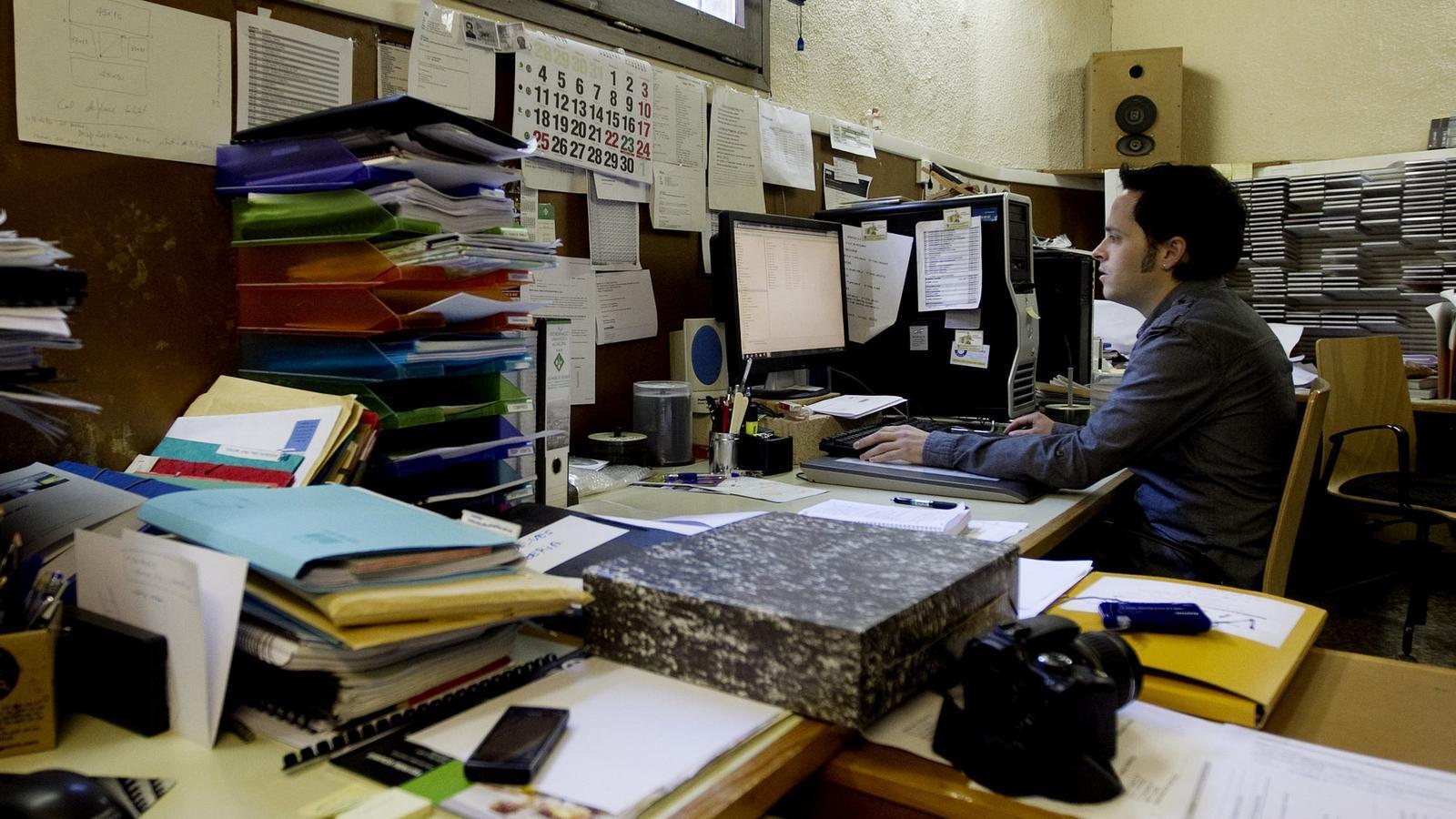 PROFESSIONALS TITULATS  Una imatge d'un despatx d'arquitectes, un dels col·lectius afectats per la pujada de l'IRPF.