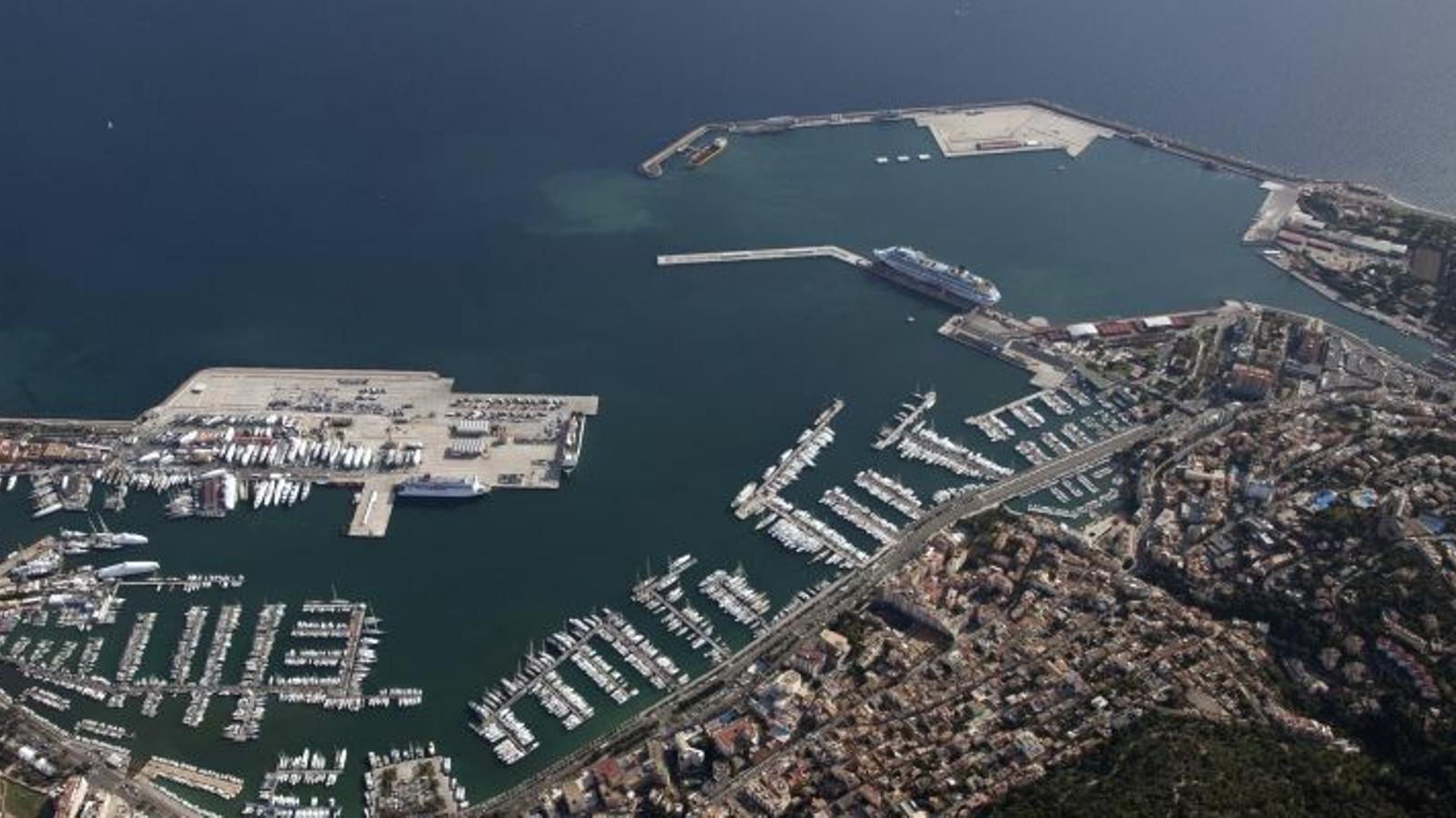 Imatge aèria del port de Palma
