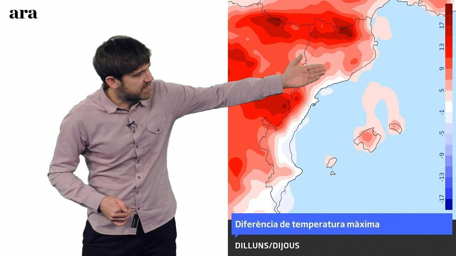 La méteo: la temperatura es tornarà a disparar al centre de la setmana