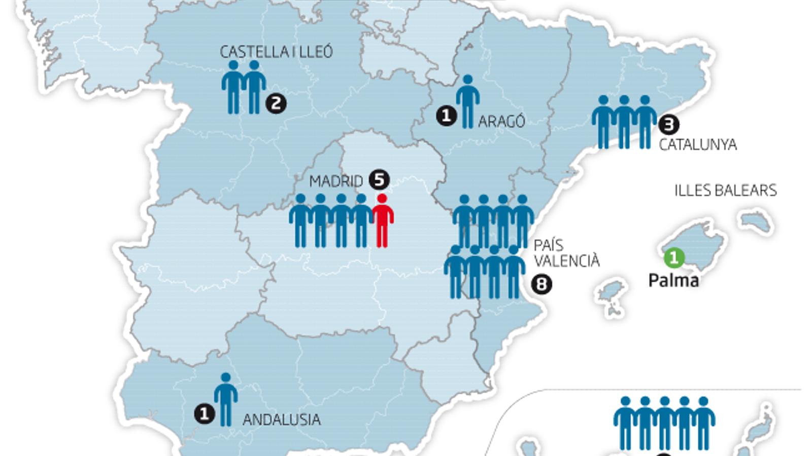 Un cinquè cas a Madrid i el primer a Aragó eleven a 25 els infectats pel Covid-19 a Espanya