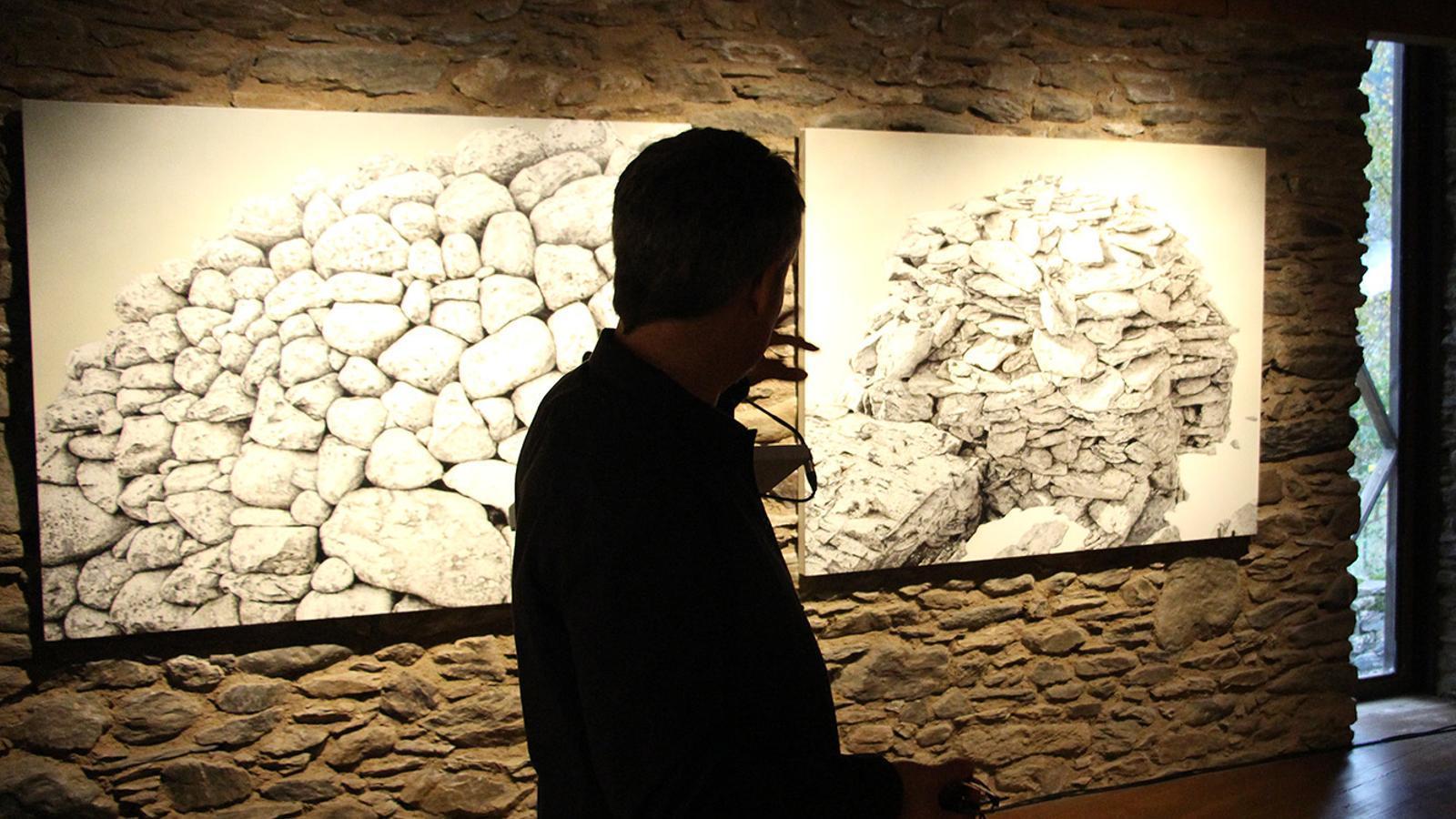 Una imatge de l'exposició de Jordi Fulla que es pot veure a Cal Pal. / M. P. (ANA)
