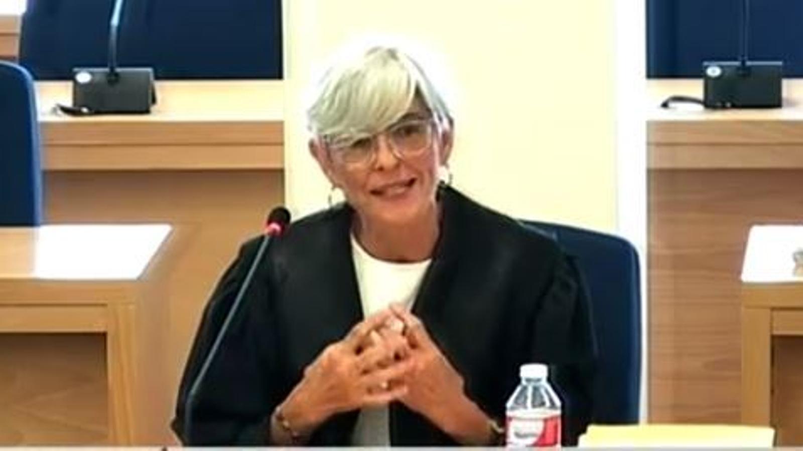 Olga Tubau, advocada del major dels Mossos, Josep Lluís Trapero, exposant l'informe final a l'Audiència Nacional