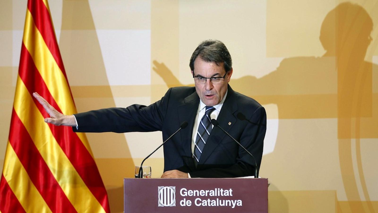 Artur Mas en la roda de premsa de balanç dels 100 dies de Govern / EFE