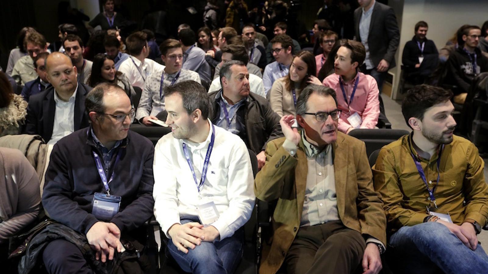El president de CDC, Artur Mas, abans de començar un acte de la JNC