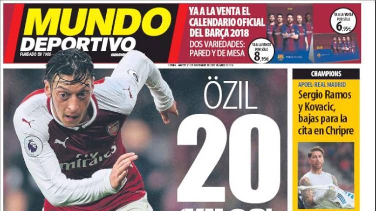 Portada 21 novembre Mundo Deportivo