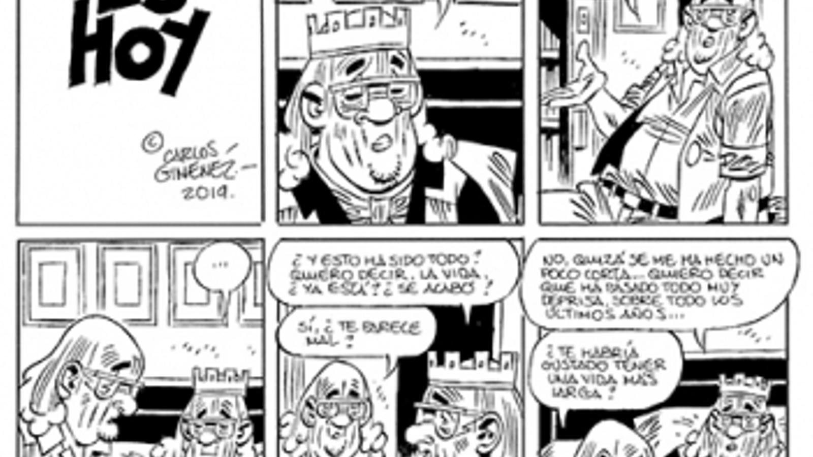 Un fragment de 'Es hoy', de Carlos Giménez