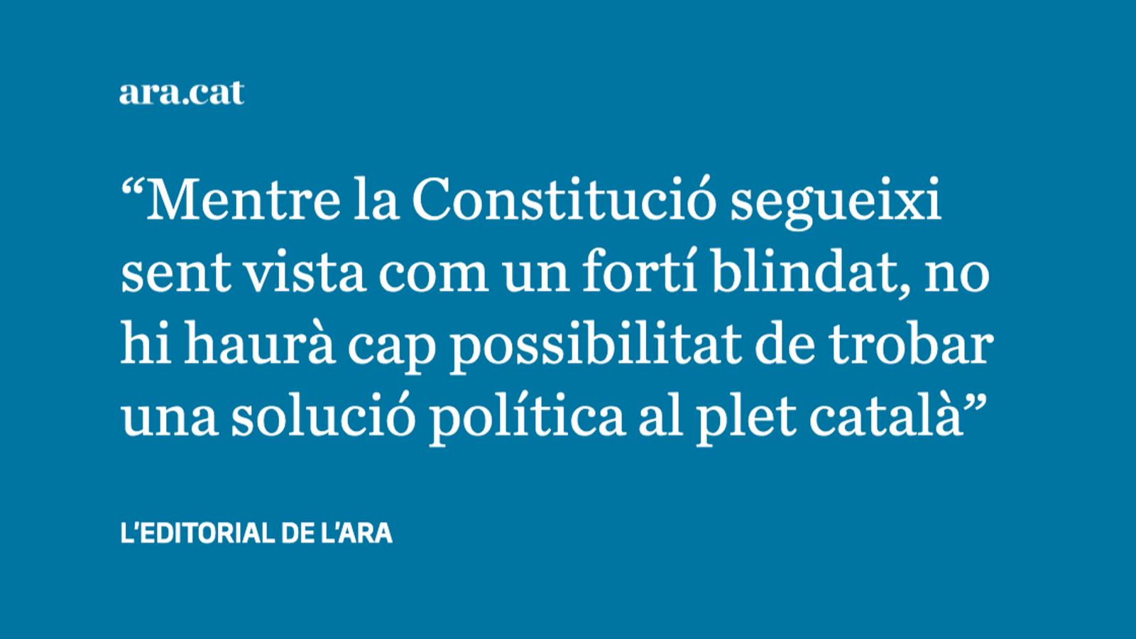 La Constitució, víctima dels constitucionalistes