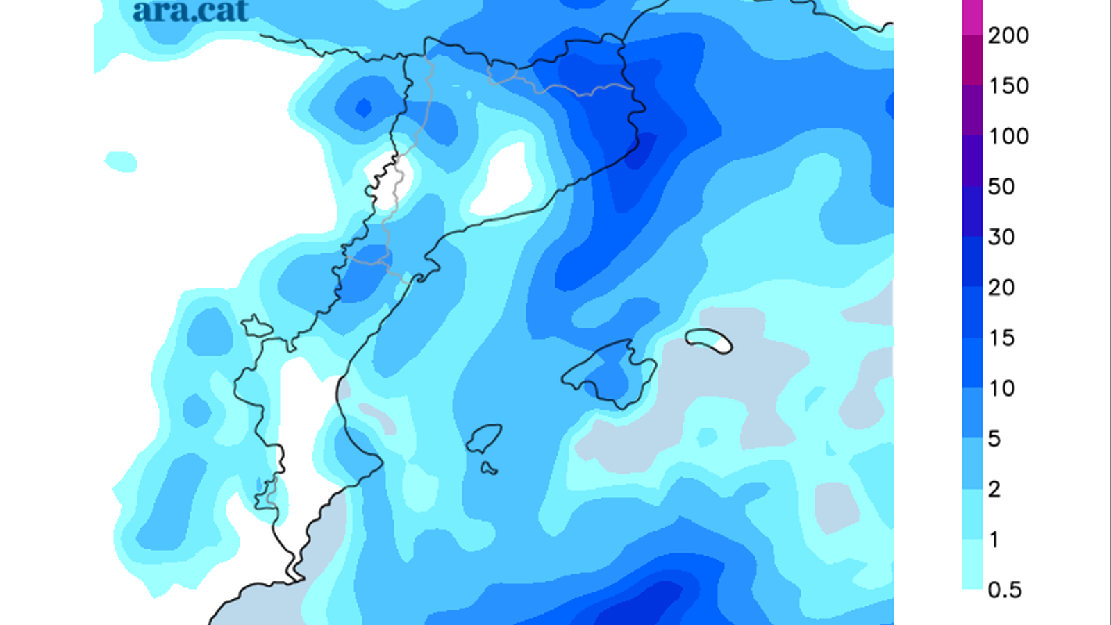 Barcelona viu el mes més plujós des del 1994