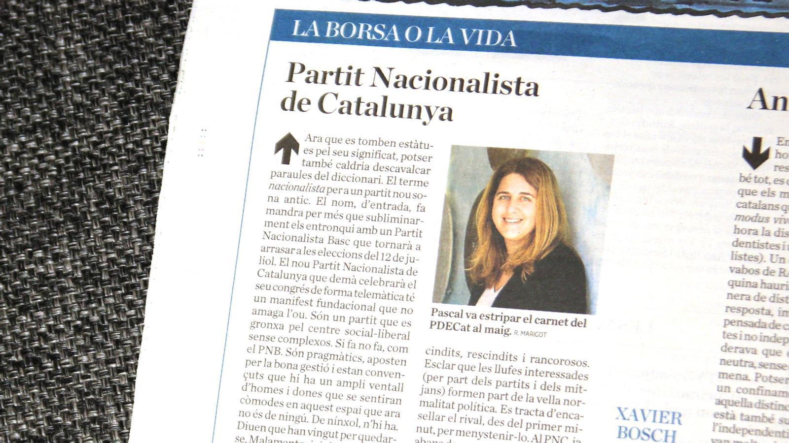 """L'anàlisi d'Antoni Bassas: 'Mira que dir-ne """"Partit Nacionalista""""'"""