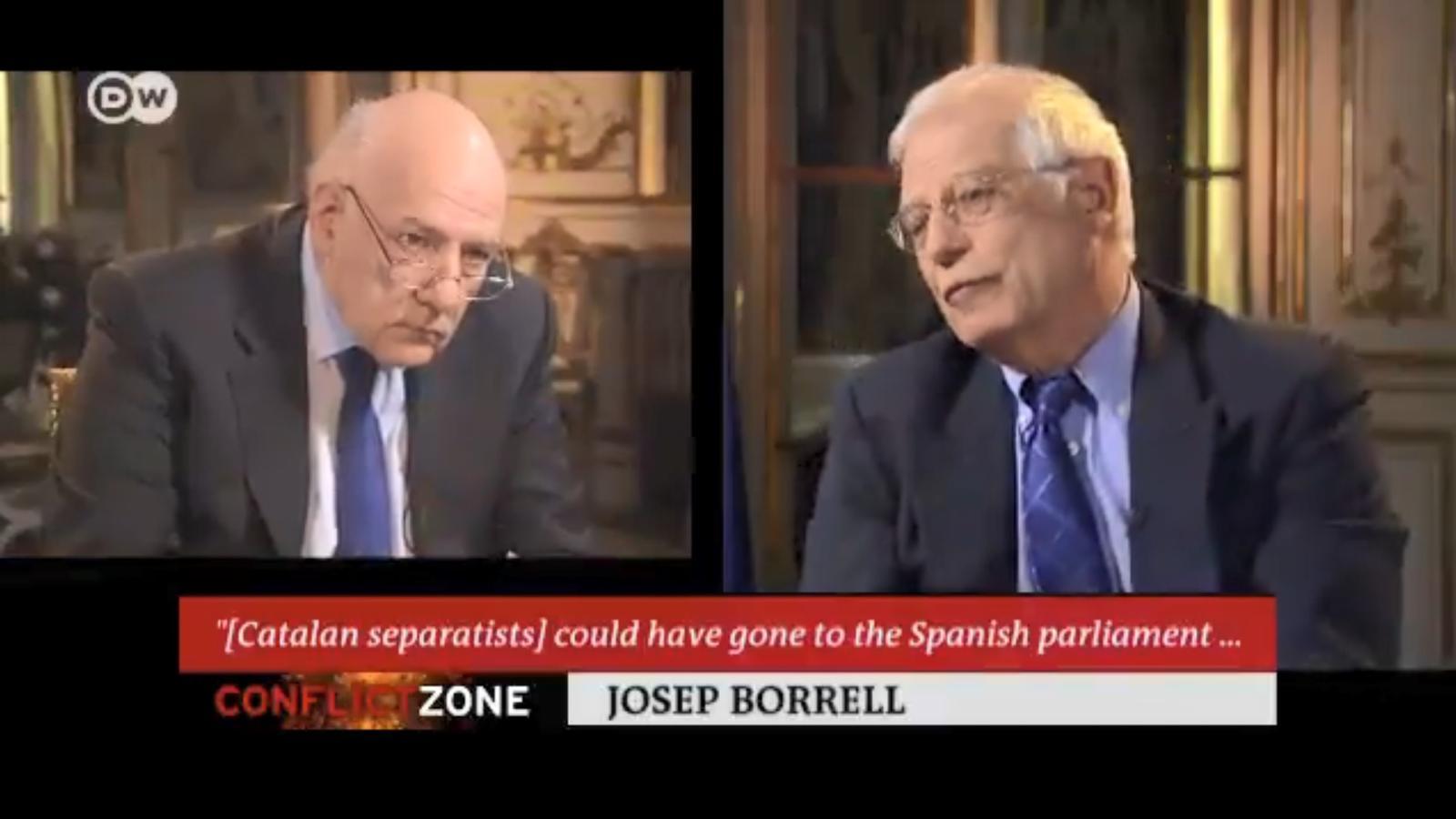 Borrell amenaça amb abandonar el plató d'una cadena alemanya davant les preguntes sobre el Procés