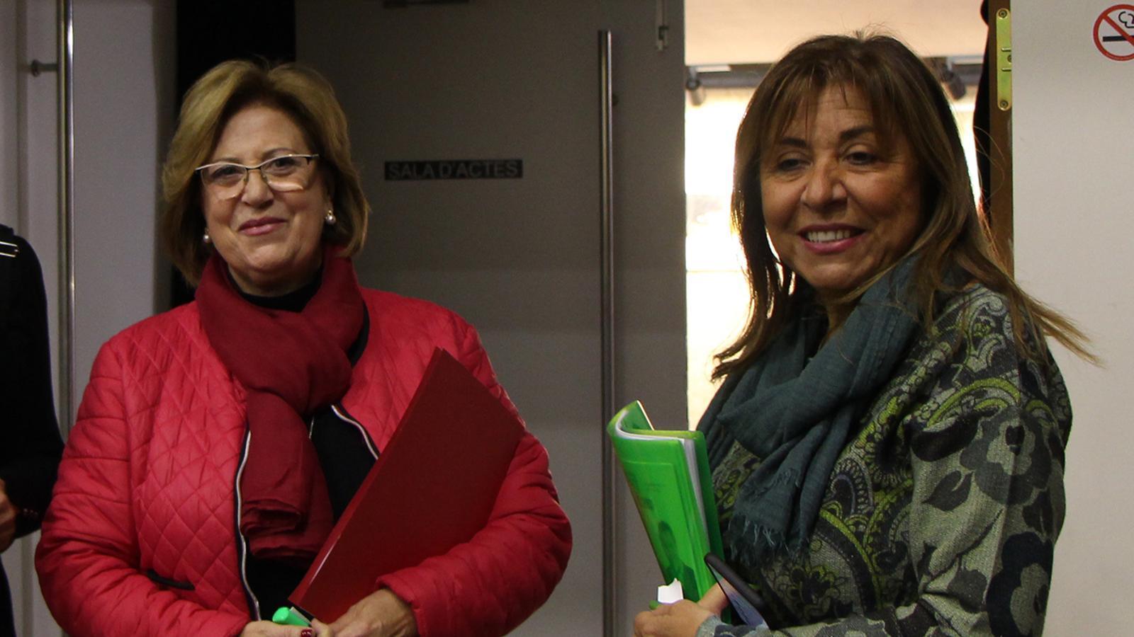 Carmona i Marsol, en un debat electoral d'aquesta campanya. / M. F.