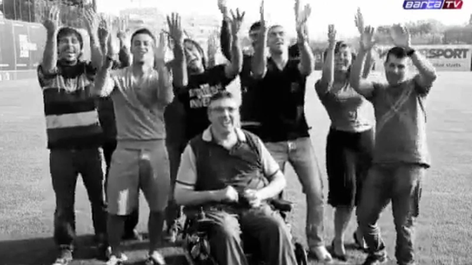Thiago i Valdés en un videoclip benèfic a favor de l'esclerosi múltiple