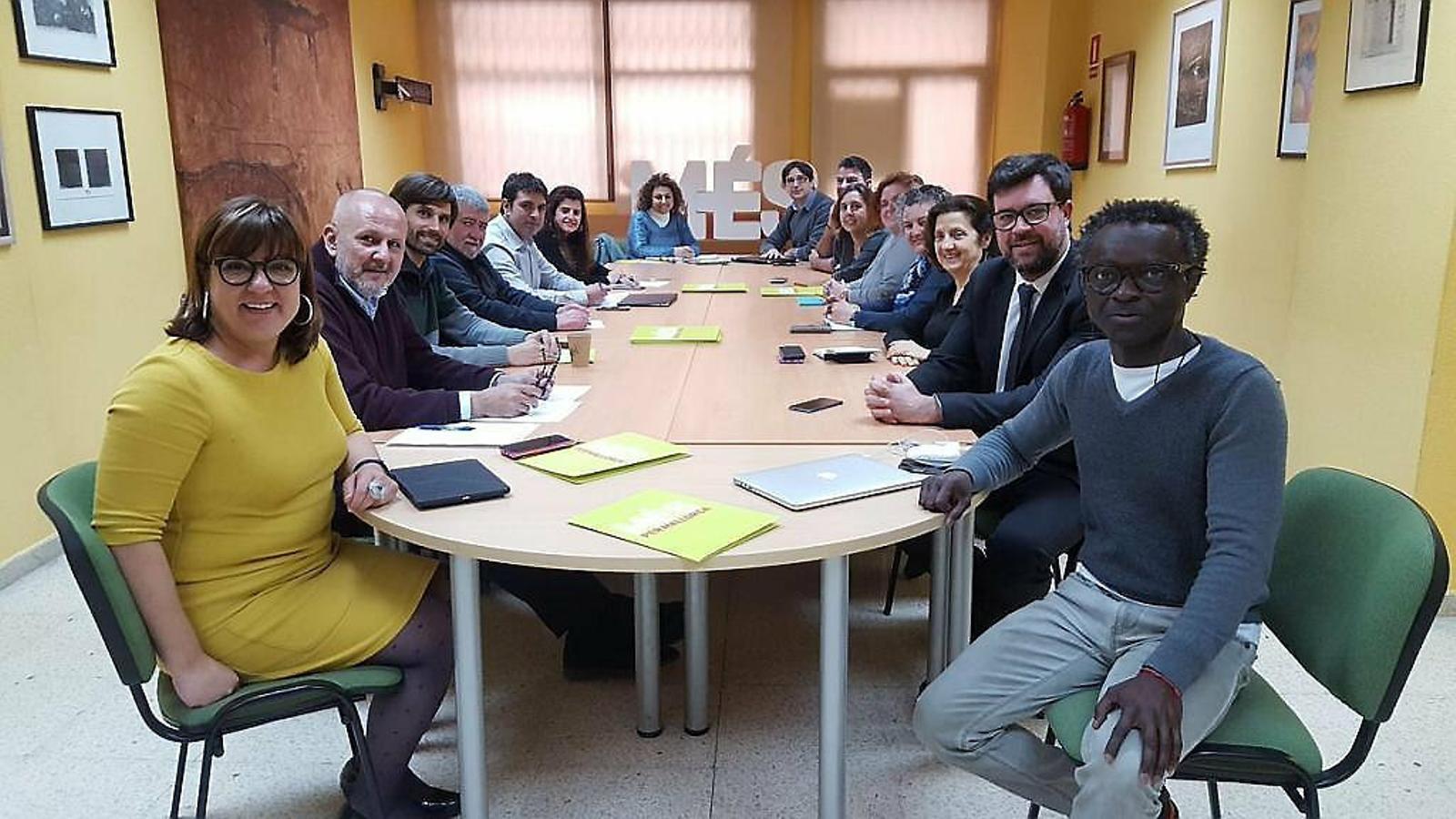 Imatge d'arxiu de l'executiva de MÉS per Mallorca.