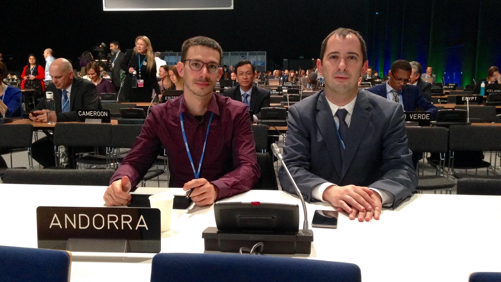 La delegació andorrana a la COP 24. / SFG