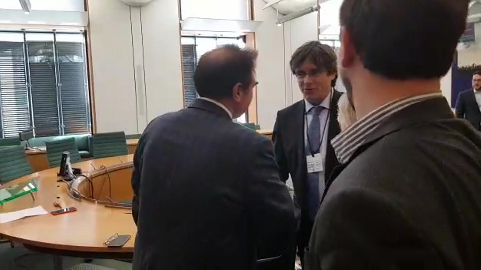 Puigdemont, al parlament britànic