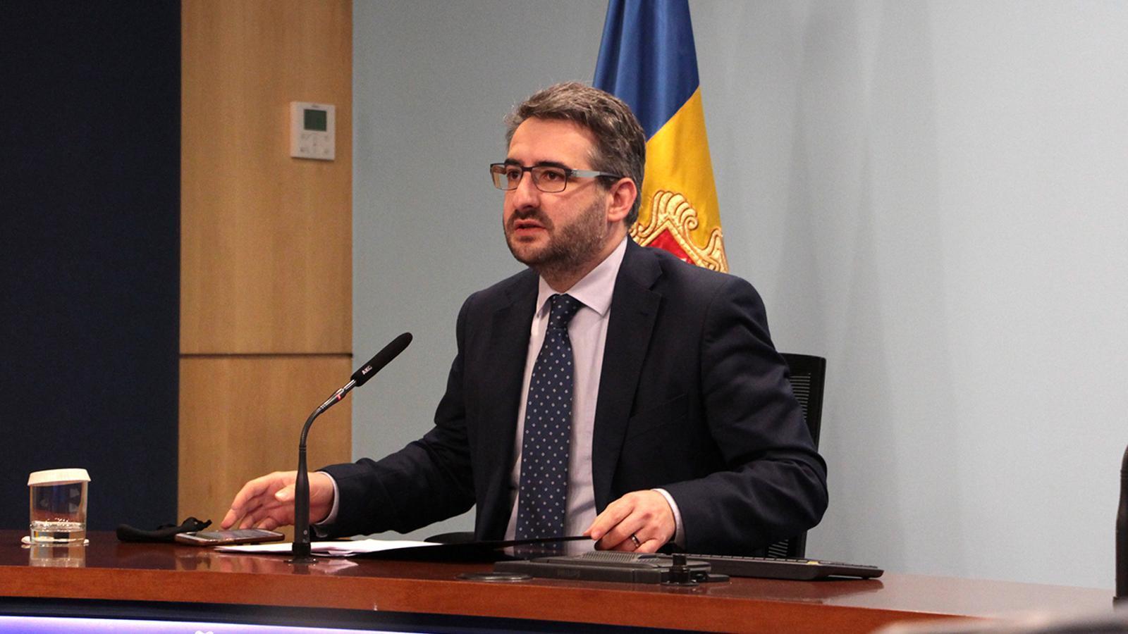 El ministre portaveu, Eric Jover, durant la roda de premsa posterior al consell de ministres / MF