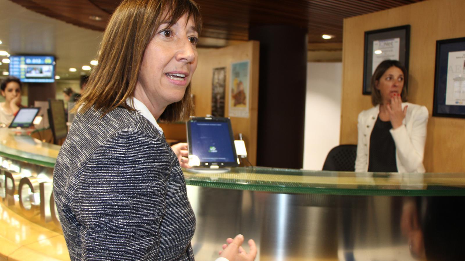 La ministra de Funció Pública i Reforma de l'Administració, Eva Descarrega, aquest dijous. / E. J. M. (ANA)