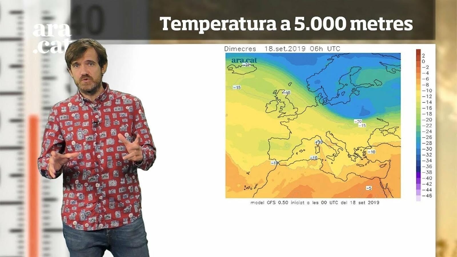 La méteo en 1 minut: xàfecs a curt termini, pluges extenses dissabte