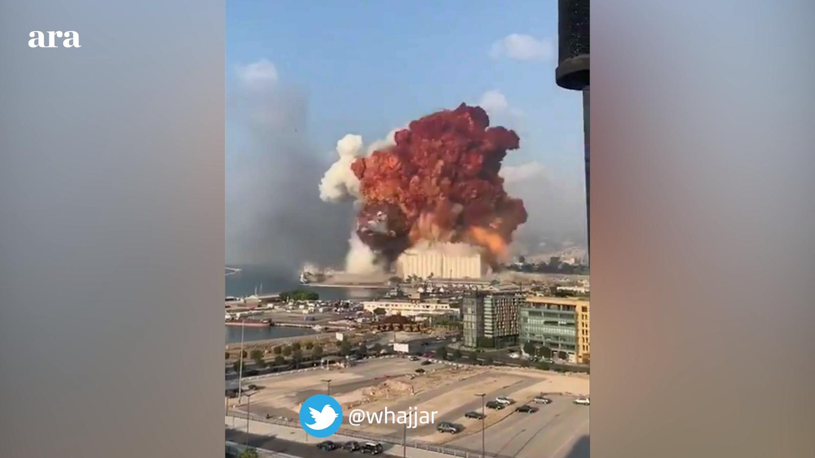 Imatges de l'explosió al port de Beirut