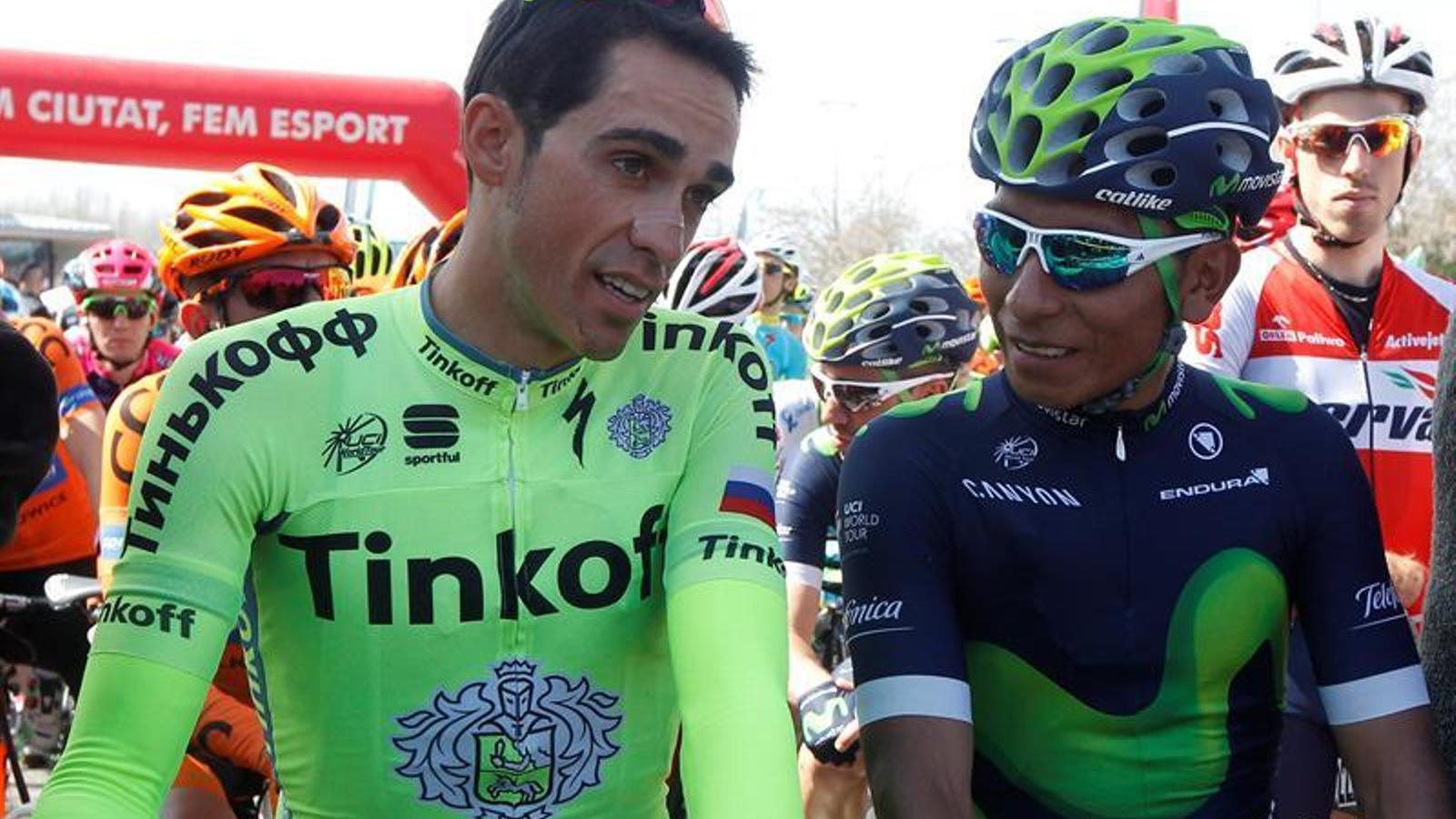 Alberto Contador i Nairo Quintana