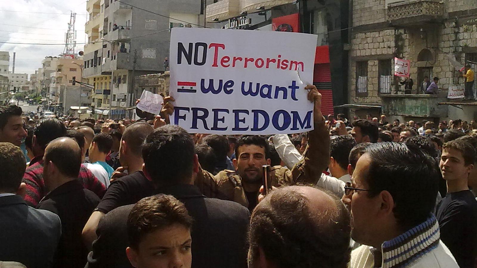 Protestes a Síria en un divendres sagnant