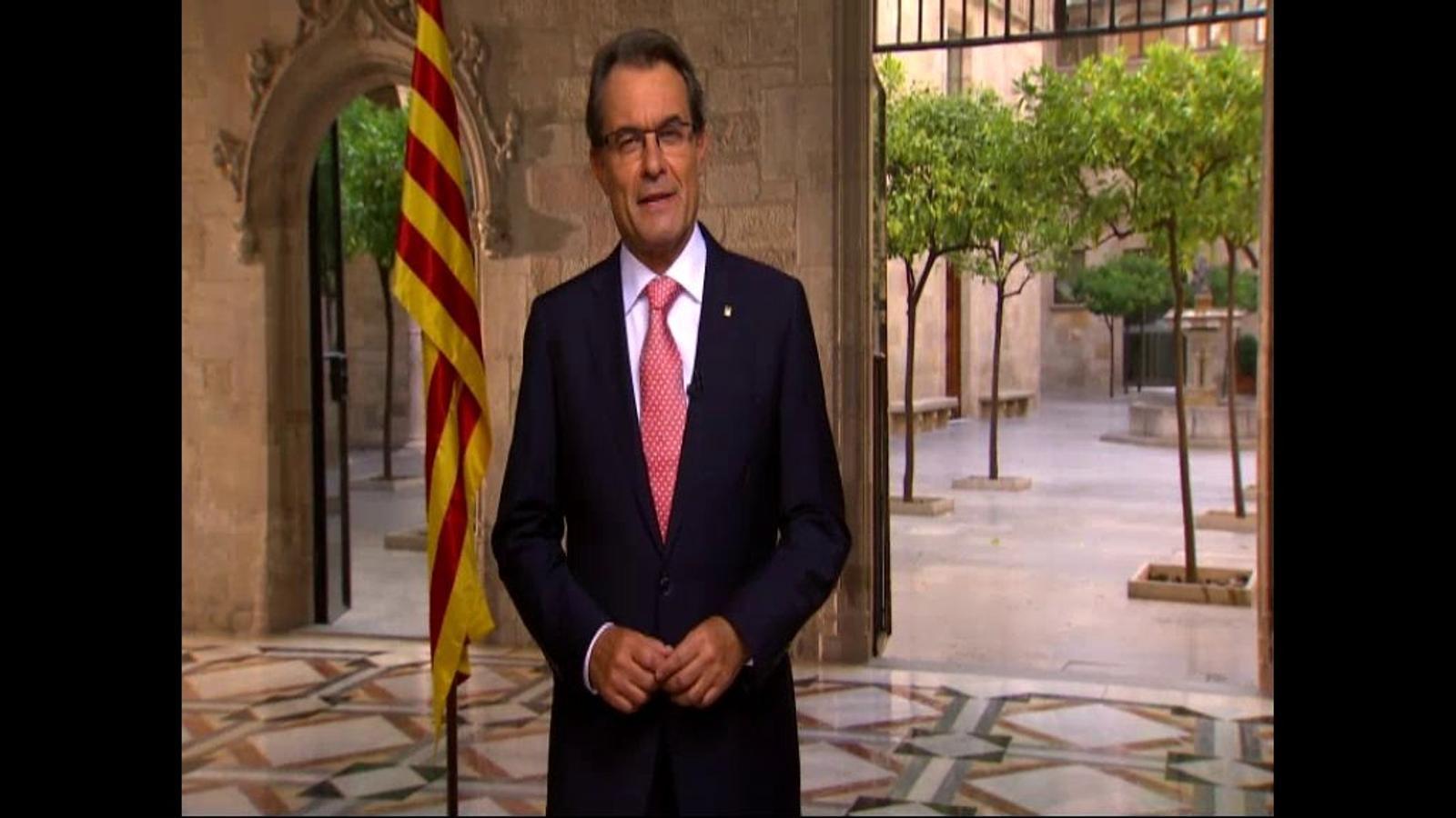 El discurs d'Artur Mas de la Diada del 2013