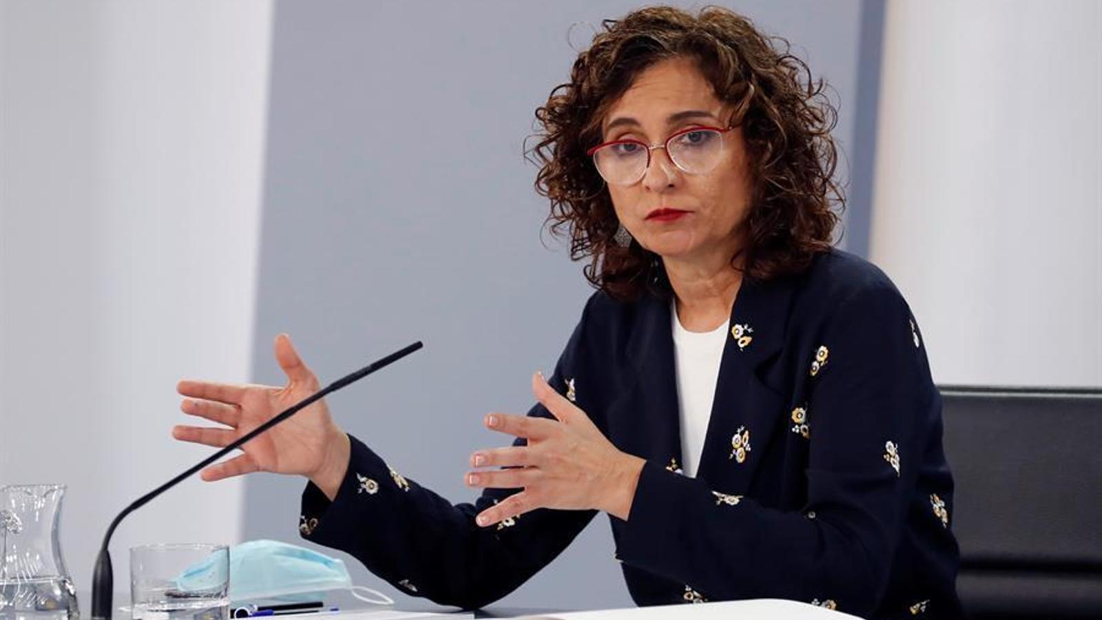La ministra d'Hisenda i portaveu del Govern espanyol, María Jesús Montero.