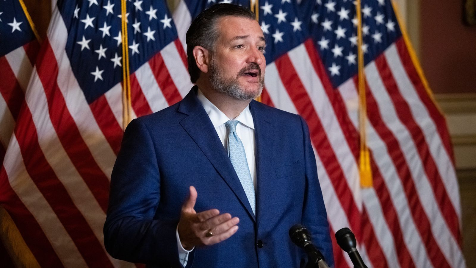 El senador Ted Cruz durant una roda de premsa