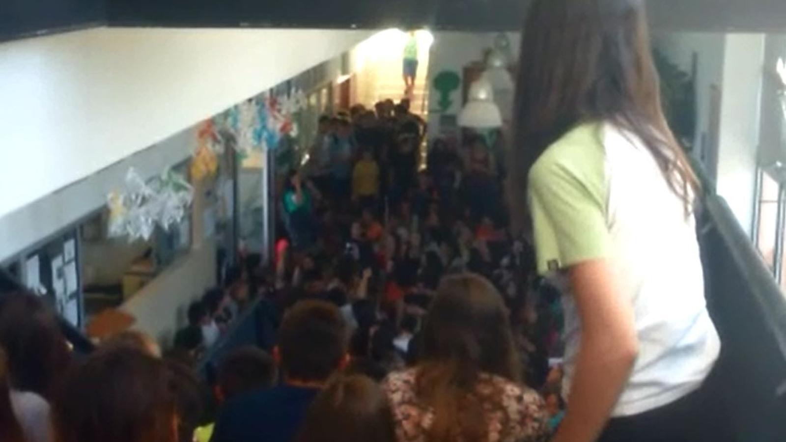 La protesta dels alumnes de l'IES Binissalem
