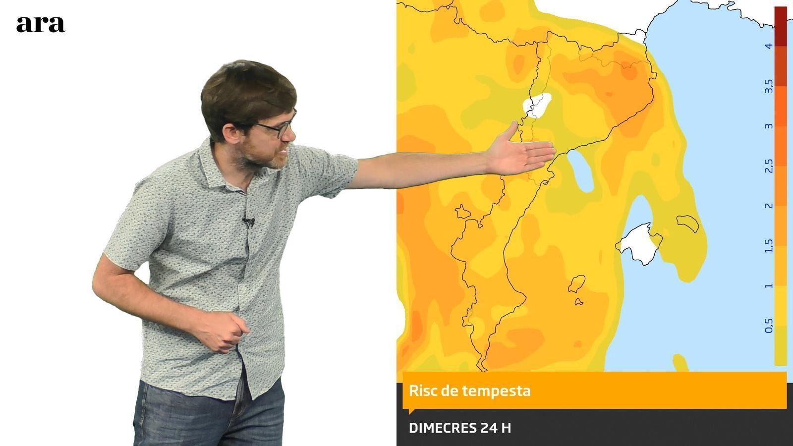 La méteo: nou pic de calor i més tempestes de tarda