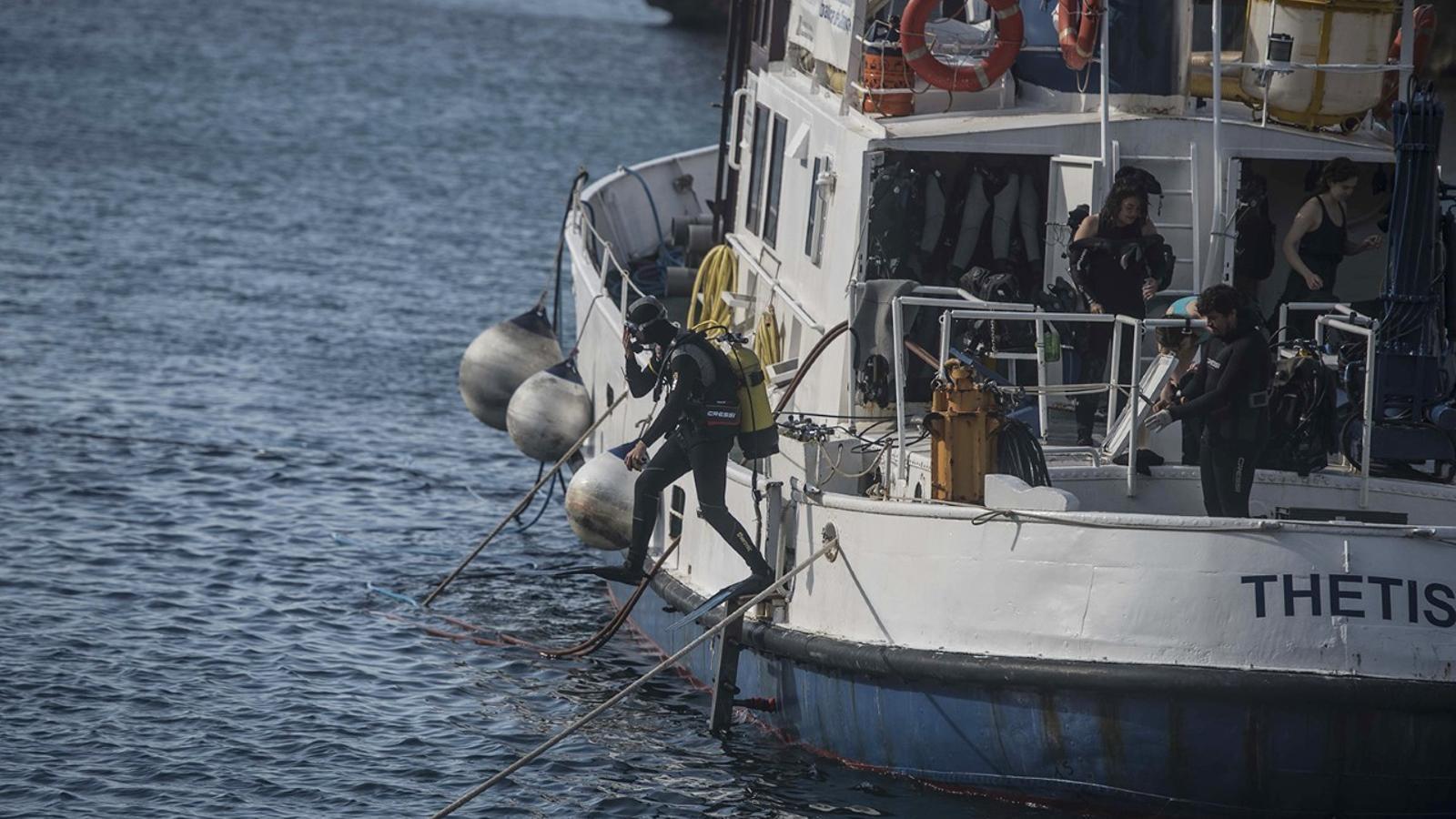 L'embarcació 'Thetis' i el grup subaquàtic han fet un gran treball durant tot el mes obtenint el premi final de la troballa.