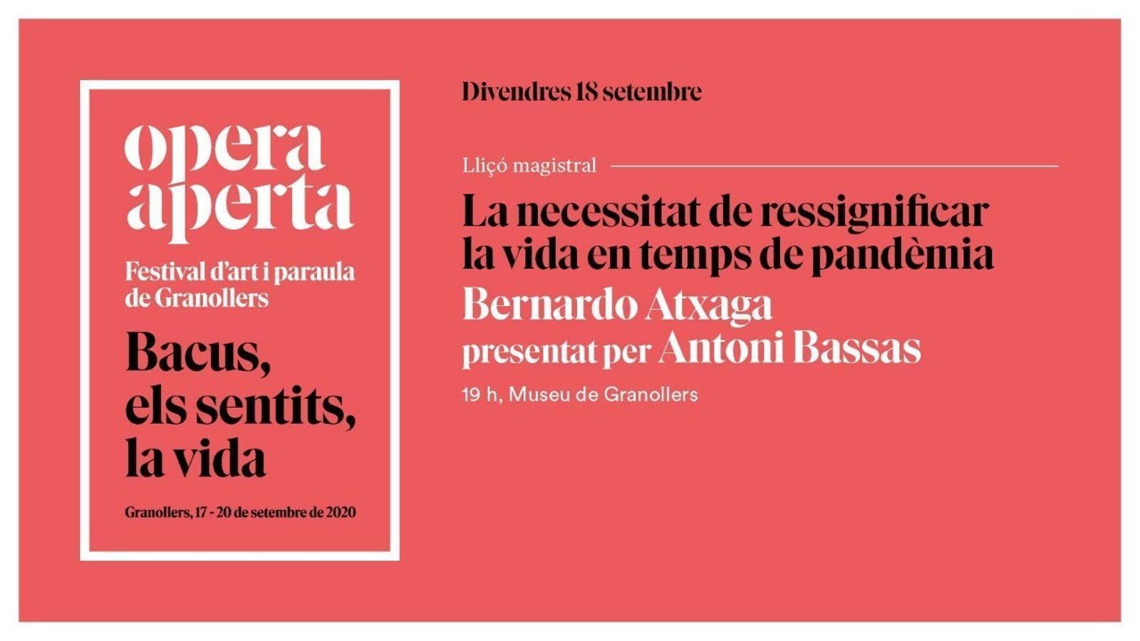 Conversa entre Antoni Bassas i Bernardo Atxaga a Granollers