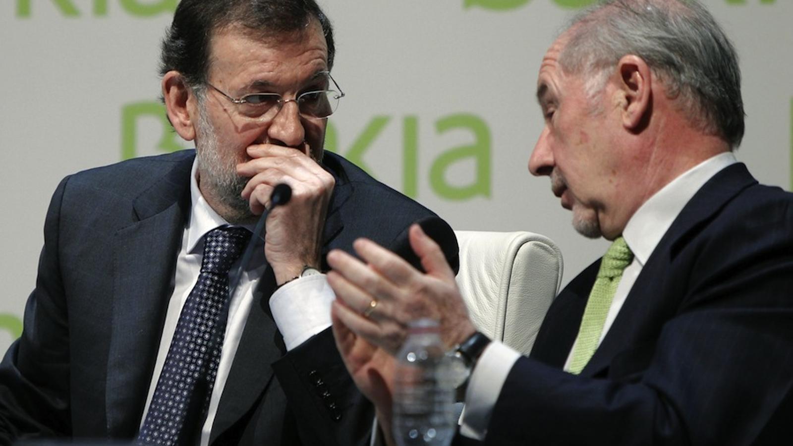 Mariano Rajoy i Rodrigo Rato, a les jornades de Bankia / EFE