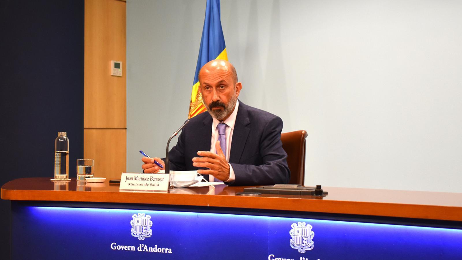 El ministre de Salut, Martínez Benazet, aquest divendres a Govern