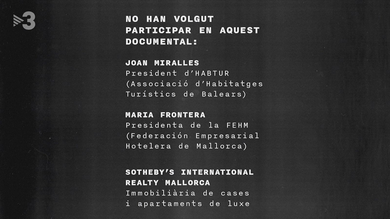Imatge inicial del documental 'Tot Inclòs'