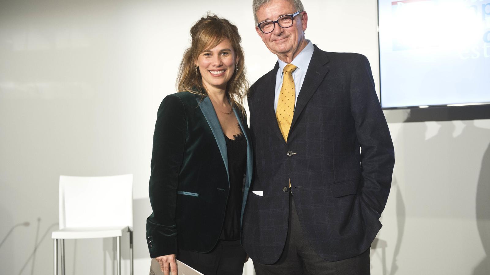 La directora de la Fundació Carulla, Marta Esteve, i el president, Joaquim Coello