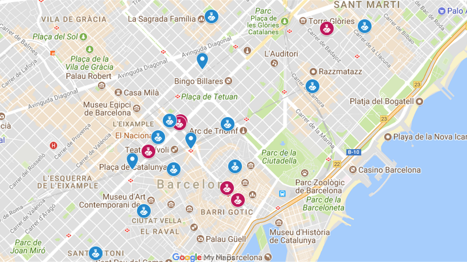 Mapa interactiu: les actuacions contra el referèndum a diverses seus de la Generalitat