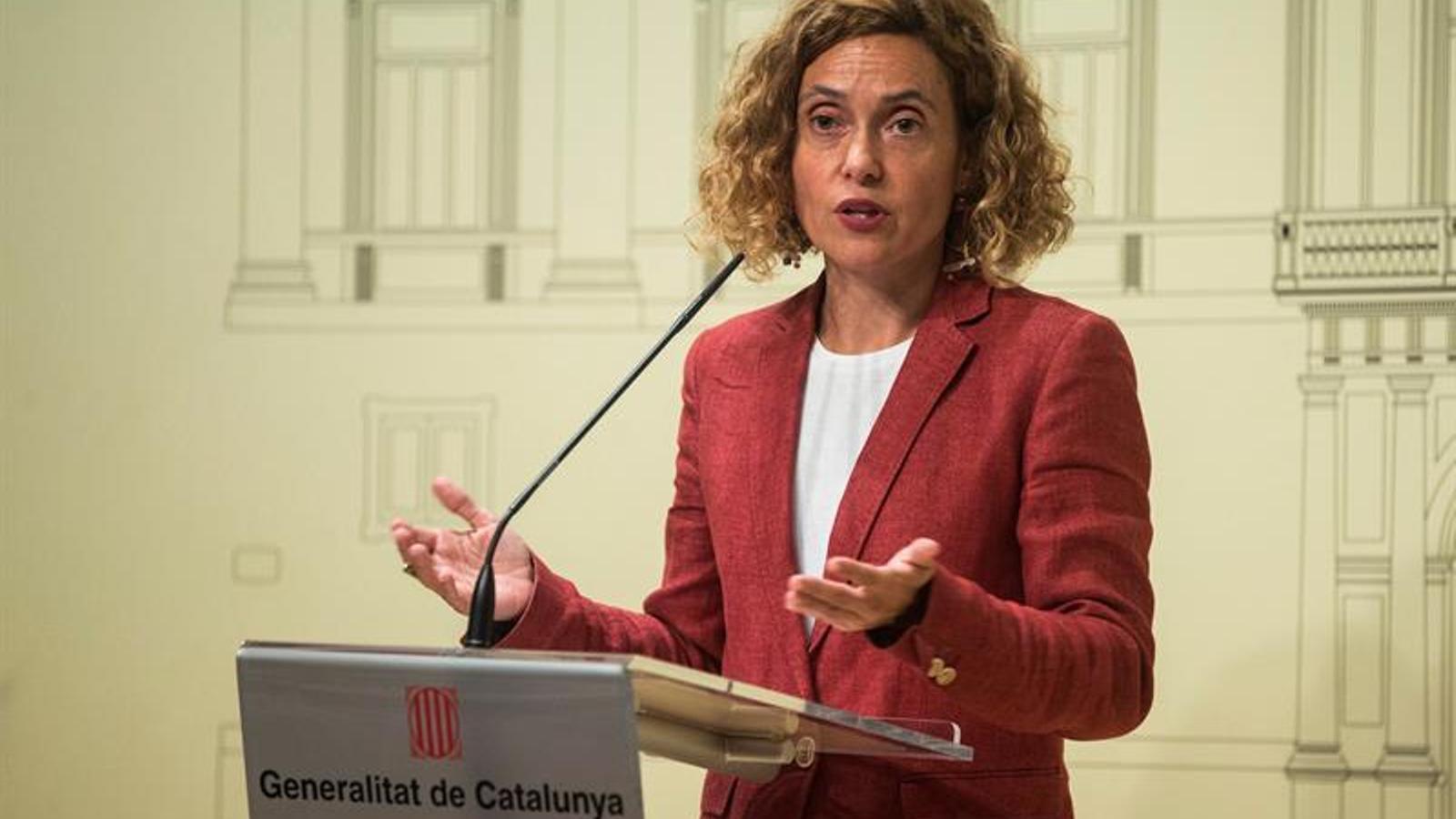 La ministra de Política Territorial, Meritxell Batet. EFE