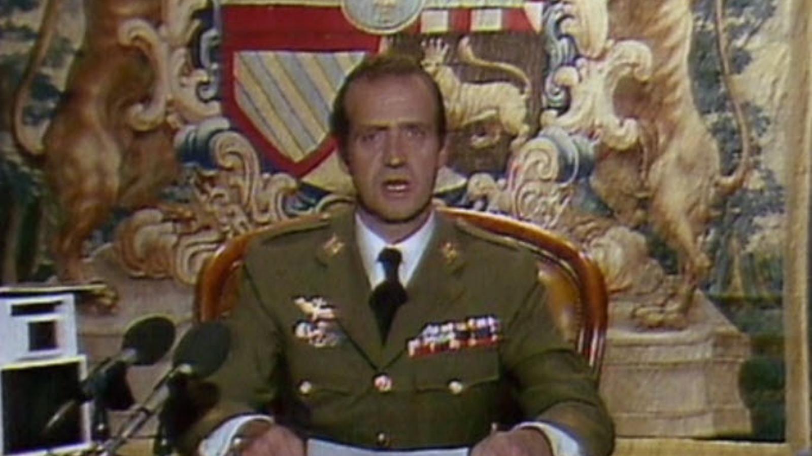 Imatge del discurs del rei d'Espanya, que apareix al fals documental d'Évole | LA SEXTA
