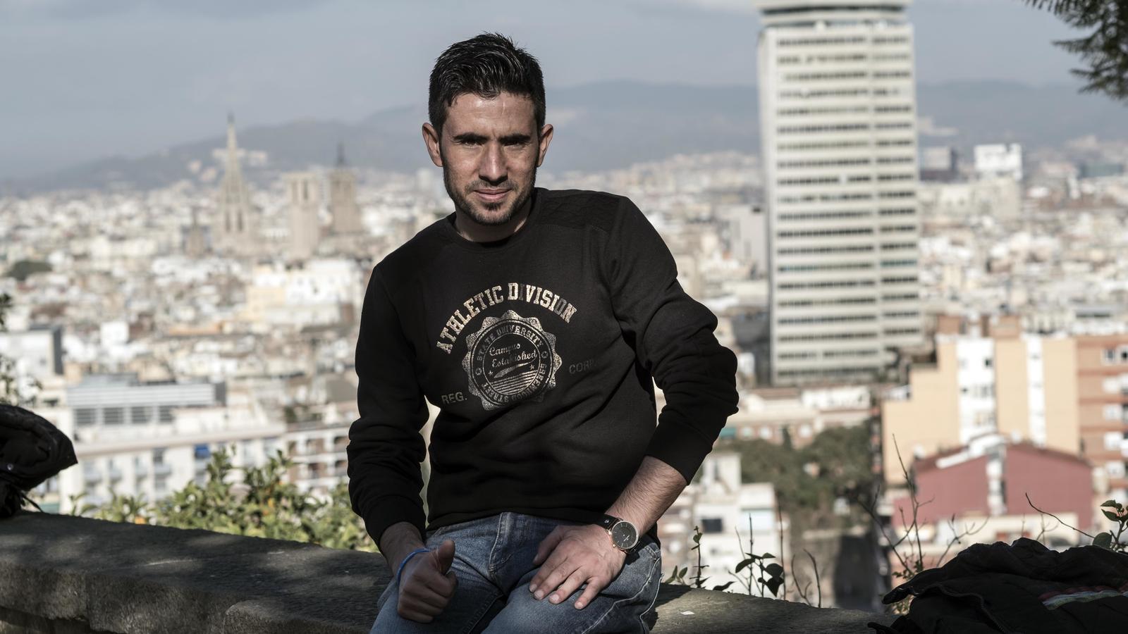 Mustafà Assaloum, estudiant sirià de 23 anys, ja és a Barcelona.
