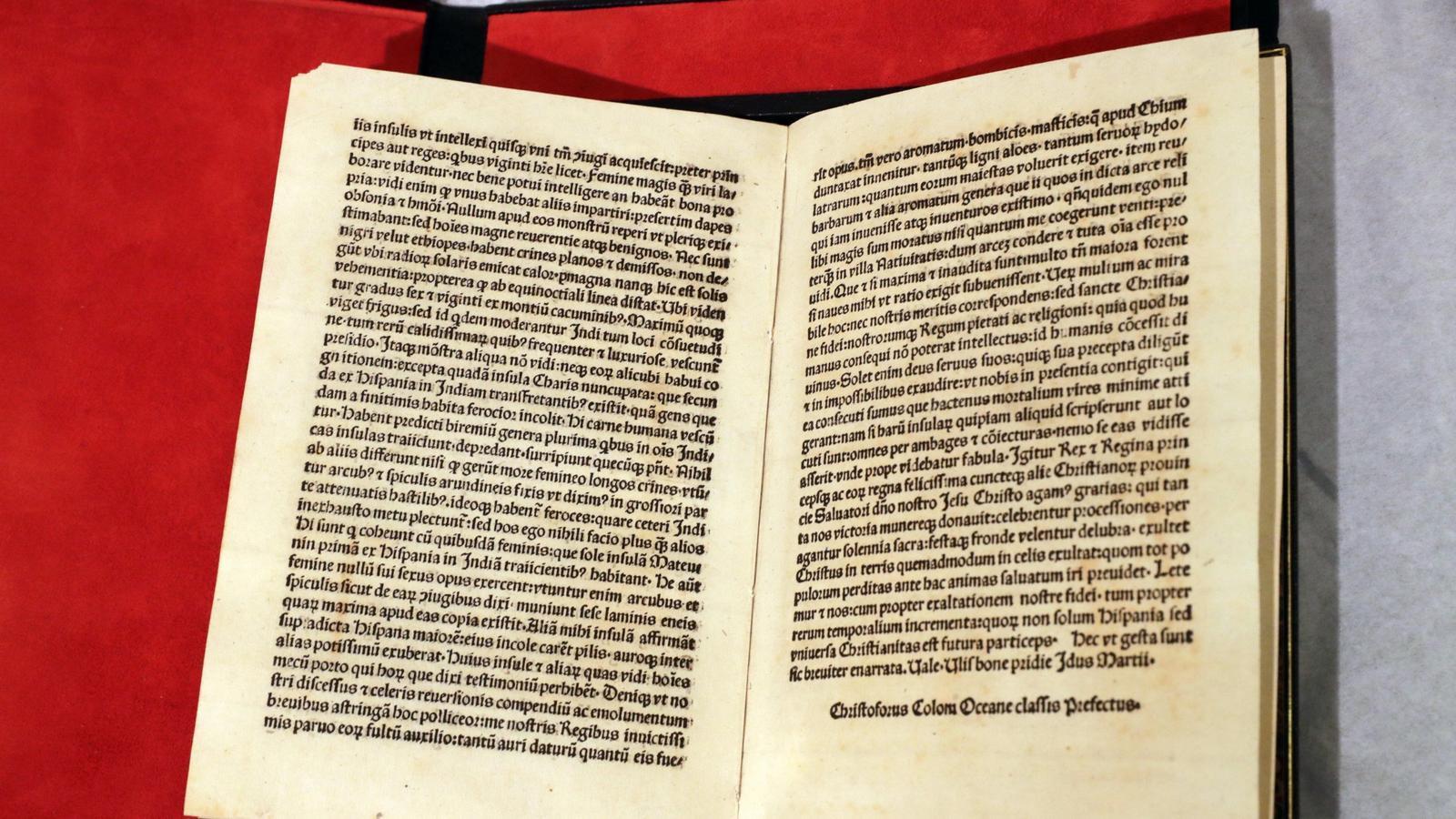 La carta de Colom robada a la Biblioteca de Catalunya