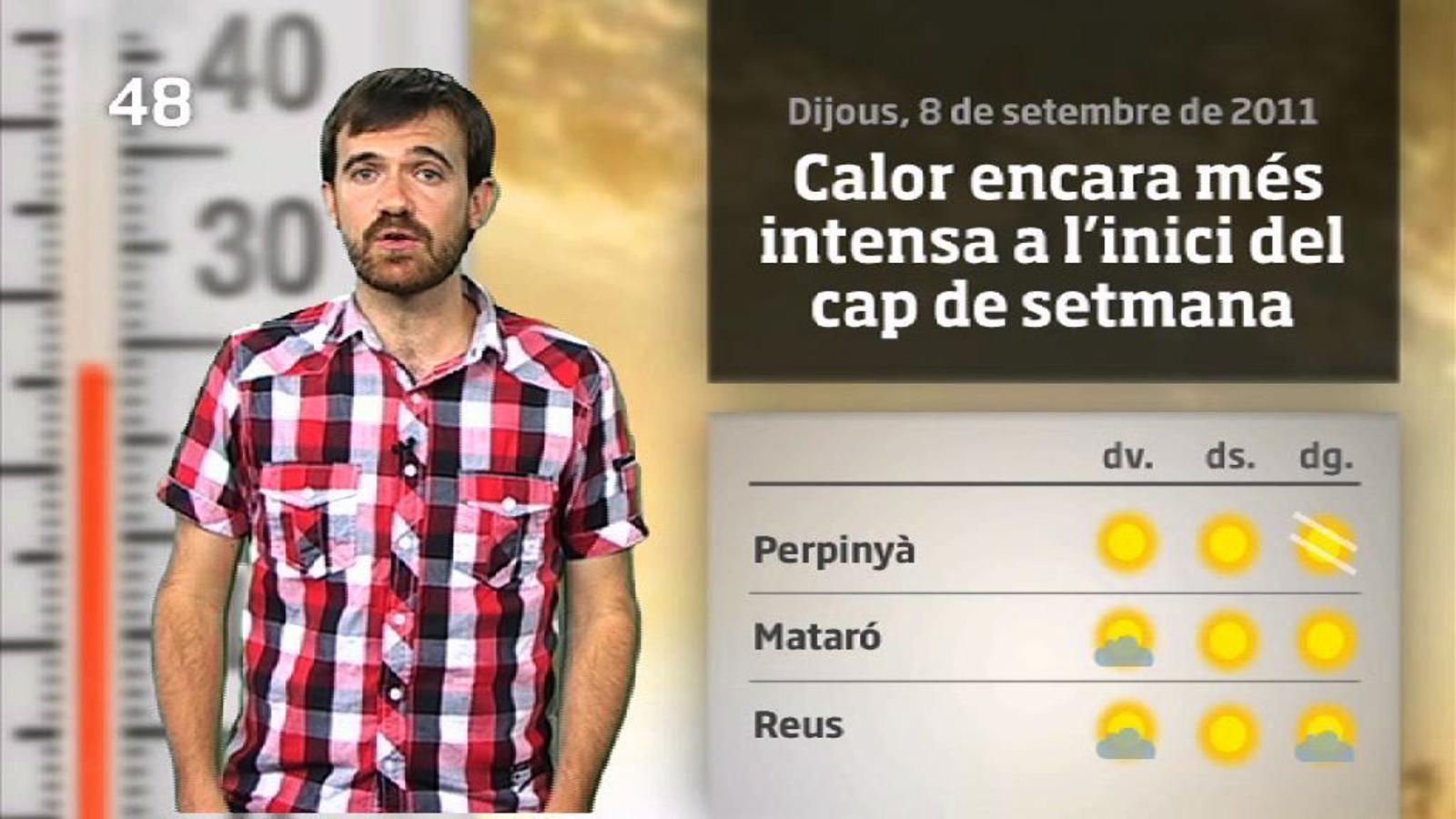 La méteo en 1 minut: encara més calor (09/09/2011)