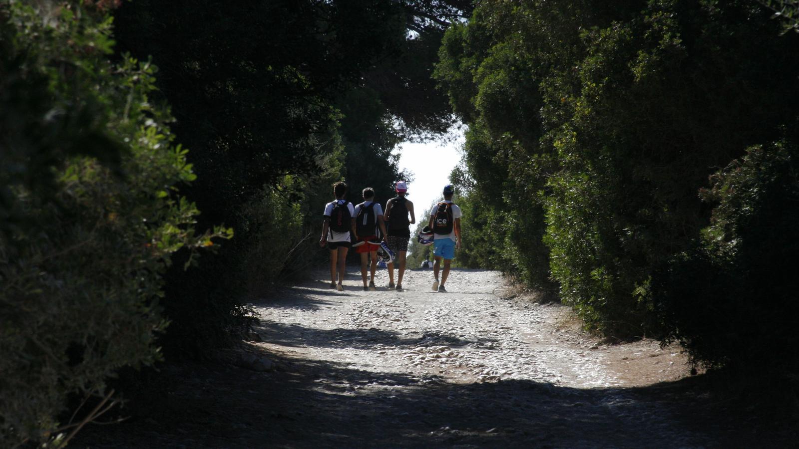L'accés a la platja de Cala Varquers només es podrà a fer a peu o anant fins el pinar amb bicicleta.
