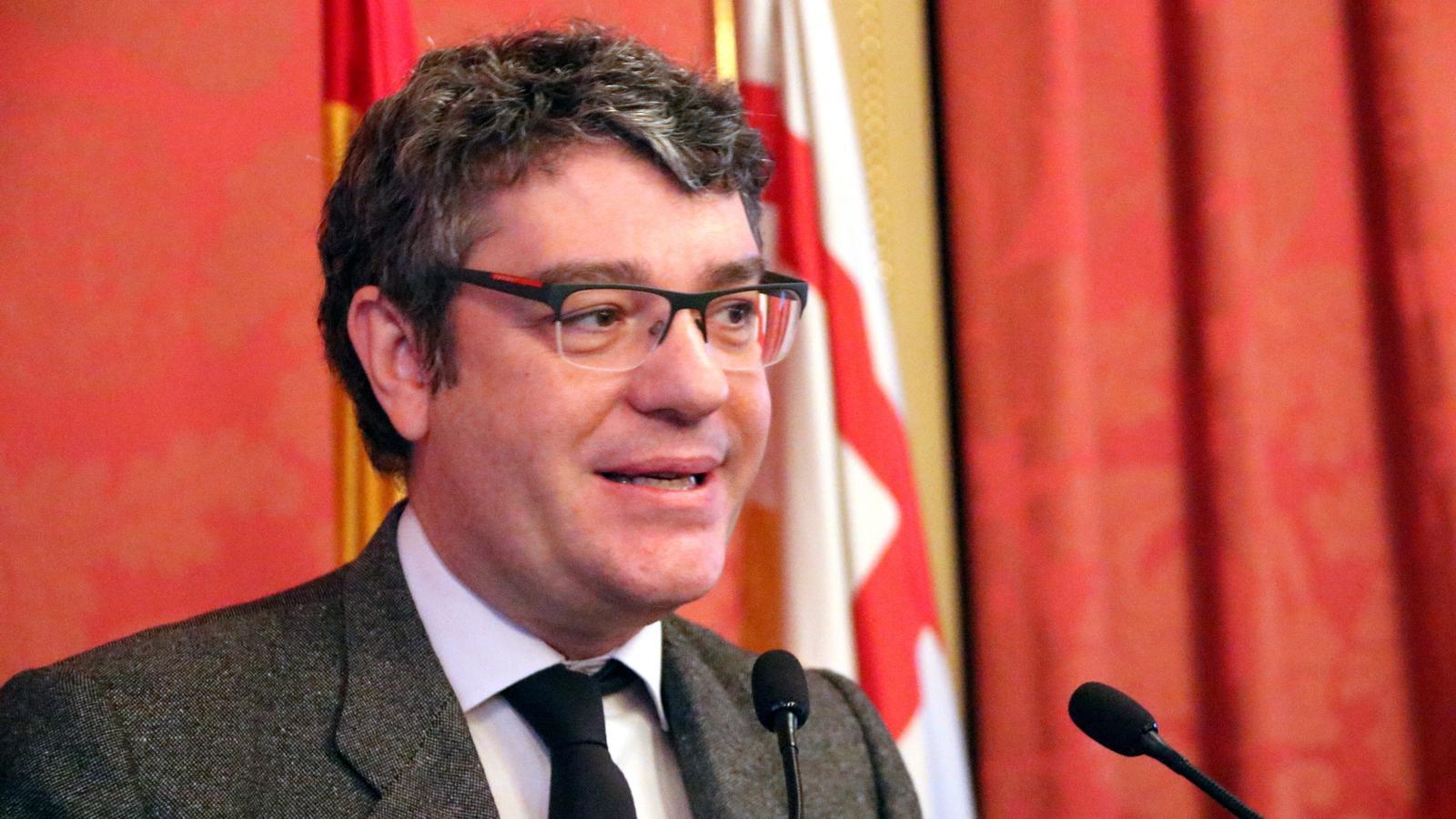 El ministre Álvaro Nadal a la Cambra de Comerç.